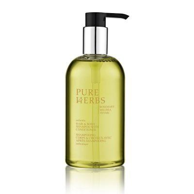 PURE HERBS - Haar- & Körpersseife mit Conditioner im Pumpspender, 300 ml