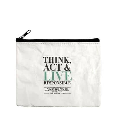 Think Act & Live Responsible - Papiertasche