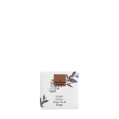 The Perfumer`s Garden - feste Seife mit grünem Tee und Ingwer, im Papierwickler, 40 g