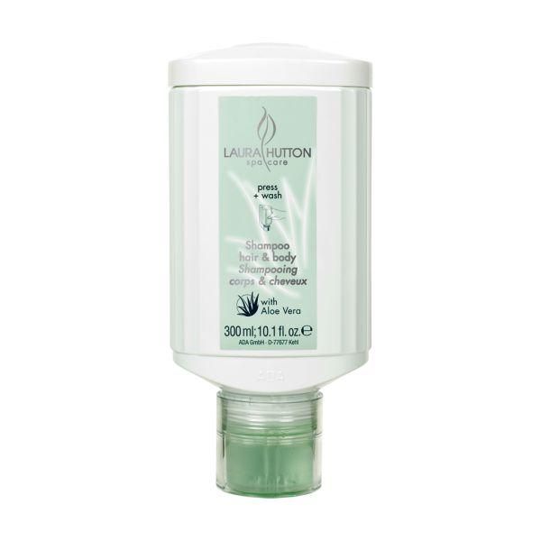 Laura Hutton Spa Care - Haar- und Körperseife, 300 ml, press + wash